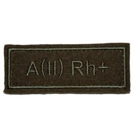 """Nášivka VKBO """"A(II) RH+"""" (krevní skupina)"""