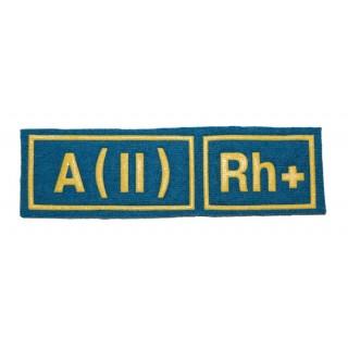 """Nášivka """"A(II) RH+"""" (Mírové síly)"""