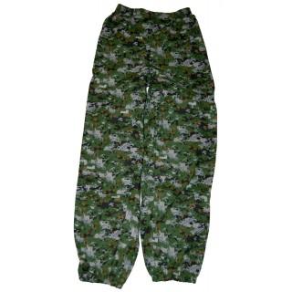 """Kalhoty letní """"Spektrum"""" zeleno-hnědý"""