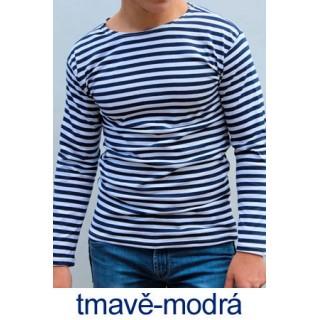 Ruské námořnické triko (tmavě-modré, dlouhý rukáv)