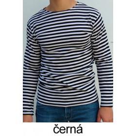 Ruské námořnické triko (černé, dlouhý rukáv)