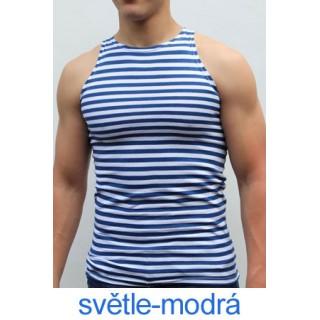 Ruské námořnické triko (světle-modré, bez rukávů)
