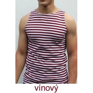 Ruské námořnické triko (vínové, bez rukávů)