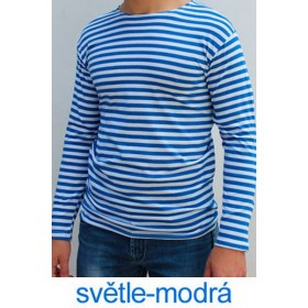 Ruské námořnické triko (ZIMNÍ, světle-modré, dlouhý rukáv)