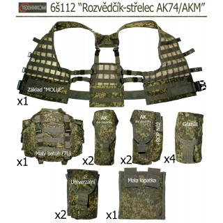 """Taktická vesta 6š112 """"Rozvědčík-střelec AK74/AKM"""" (Ruska Cifra)"""