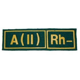 """Nášivka """"A(II) RH-"""" zelená (Pohraniční vojsko)"""