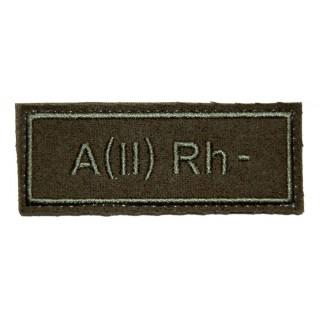 """Nášivka VKBO """"A(II) RH-"""" (krevní skupina)"""