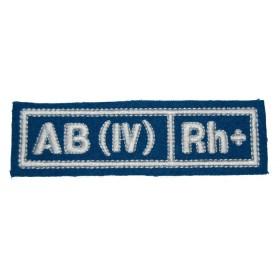 """Nášivka """"AB(IV) RH+"""" VDV (hedvábí)"""