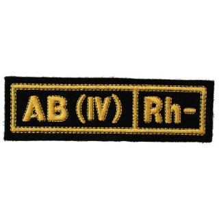 """Nášivka """"AB(IV) RH-"""" černá (hedvábí)"""