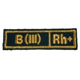 """Nášivka """"B(III) RH+"""" zelená (Pohraniční vojsko)"""