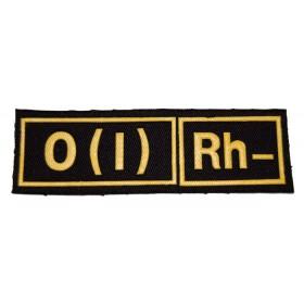 "Nášivka ""O(I) RH-"" černá"