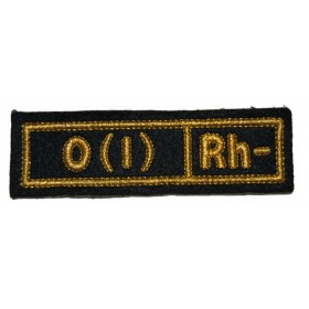 """Nášivka """"O(I) RH-"""" černá (hedvábí)"""