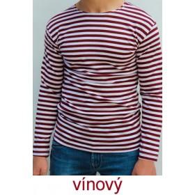 Ruské námořnické triko (vínové, dlouhý rukáv)