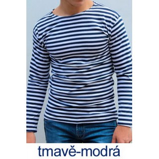 Ruské námořnické triko (ZIMNÍ, tmavě-modré, dlouhý rukáv)