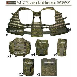 """Taktická vesta 6š112 """"Rozvědčík-odstřelovač SVD/VSS"""" (Ruska Cifra)"""