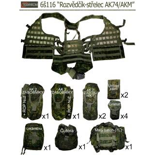 """Taktická vesta 6š116 """"Rozvědčík-střelec AK74/AKM"""" (Ruska Cifra)"""