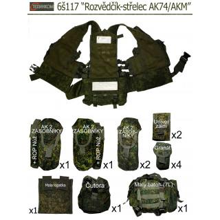 """Taktická vesta 6š117 """"Rozvědčík-střelec AK74/AKM"""" (Ruska Cifra)"""